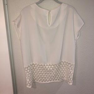 C. Luce Tops - Cream cap sleeve blouse